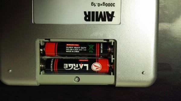 電池は付属