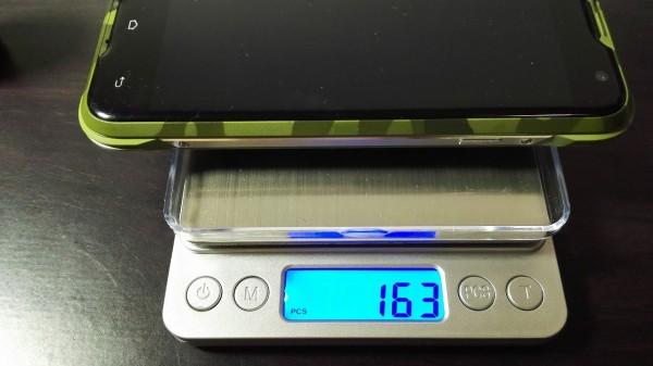 6,計りたい物を置く(163個分の重さ)
