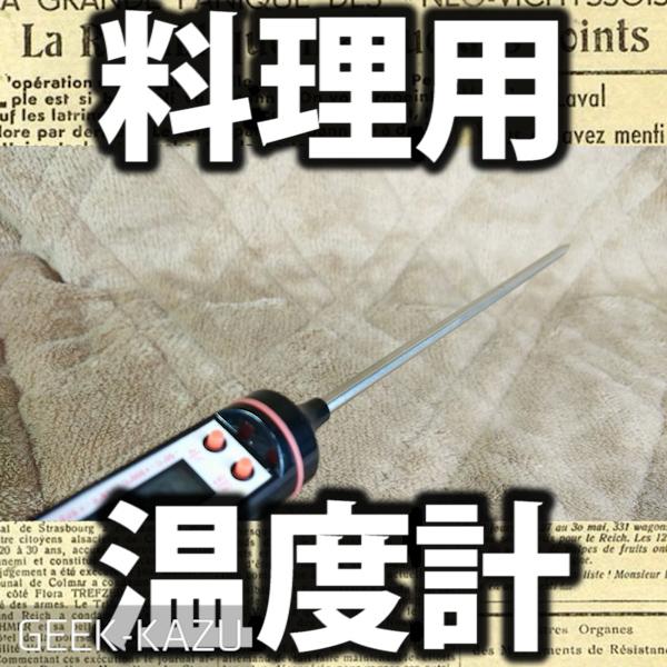 【クッキング温度計】お湯でも肉でも挿して簡単に温度を測れるぞ!料理温度計