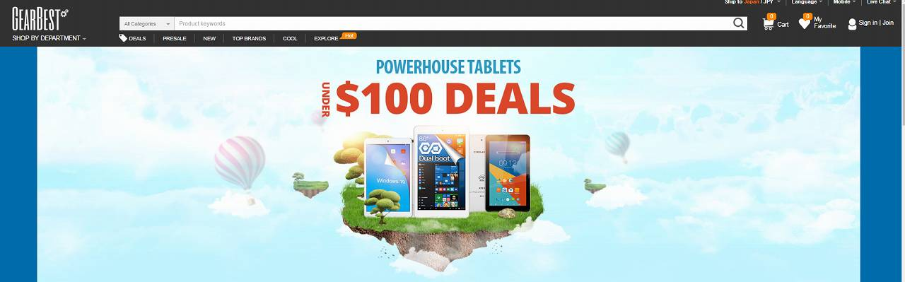 【GearBest】ALL 100ドル以下!中華タブレットが安すぎる!セール中!