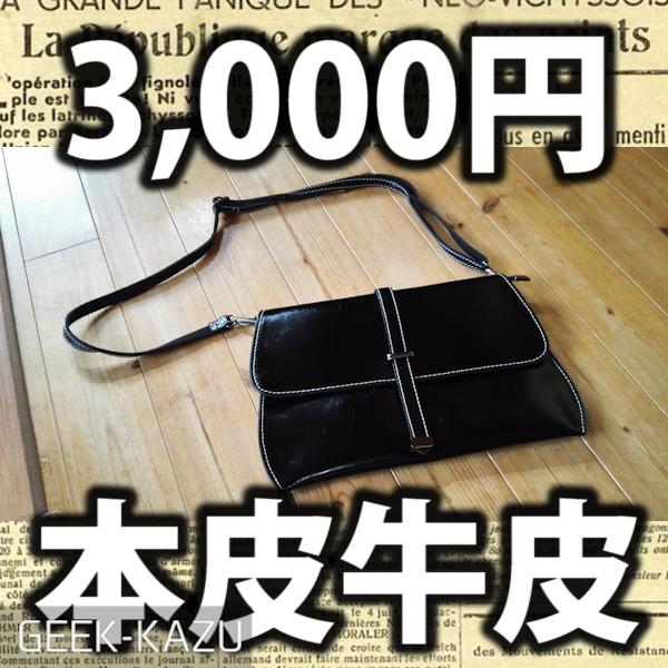 【本皮牛皮】3000円の本皮!?安すぎるトートバッグのフォトレビュー
