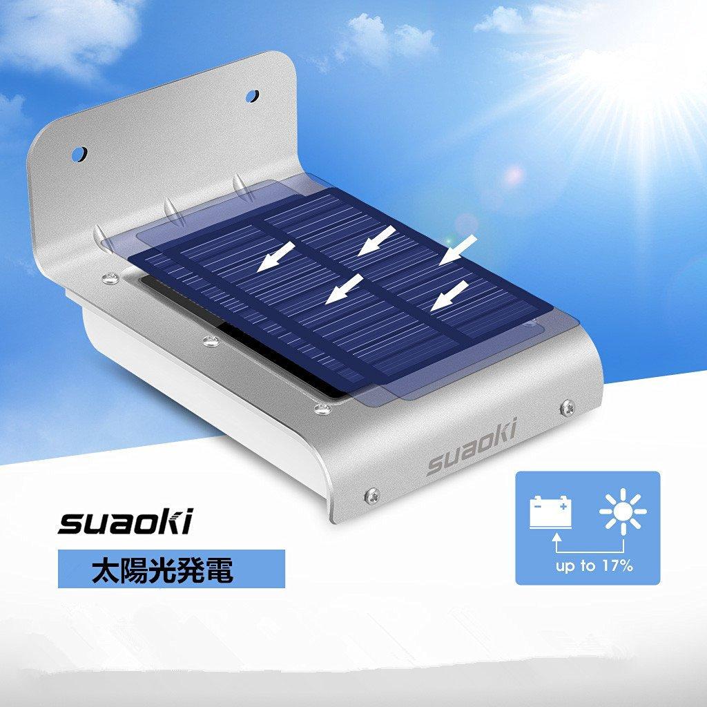 【ソーラーライト】16LED搭載のとっても環境にやさしい!太陽パネル照明ライト!