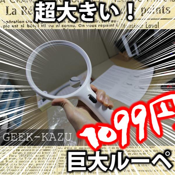 【でかいルーペ】めちゃくちゃでかい拡大鏡が便利すぎる
