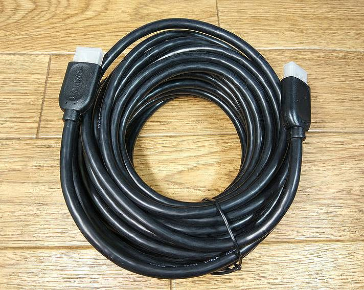 【HDMIケーブル】9mの超長いけどめちゃ安い!HDMIケーブルを使ってみた。