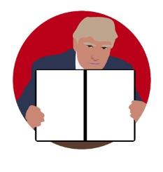【Andoridアプリ】アメリカ大統領のドナルド・トランプにフリップボードで好きなことを言わせるおもしろアプリ(Donald Draws Executive Doodle)