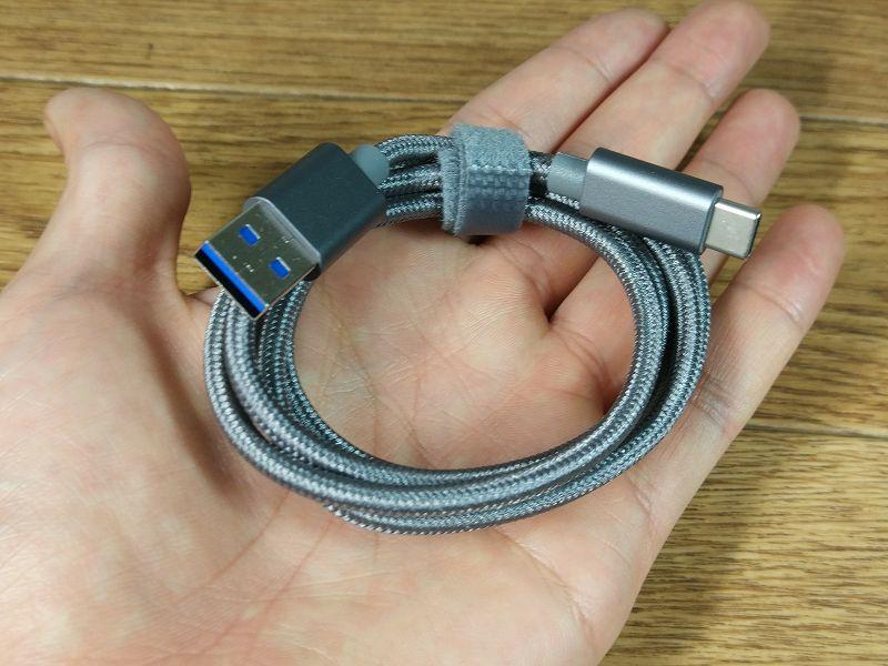 【Type-C ケーブル】最大充電速度9V/2Aの高速充電に対応したナイロンケーブル(EnacFire)
