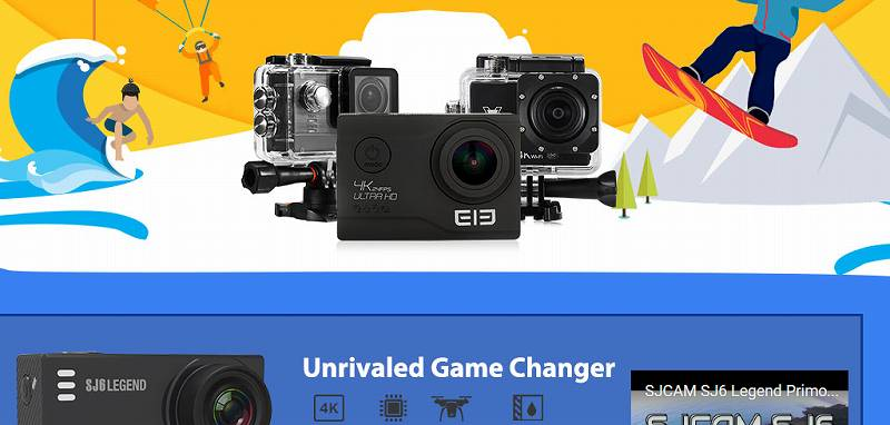 【GearBest・セール速報】アクションカメラが熱いぞセール!