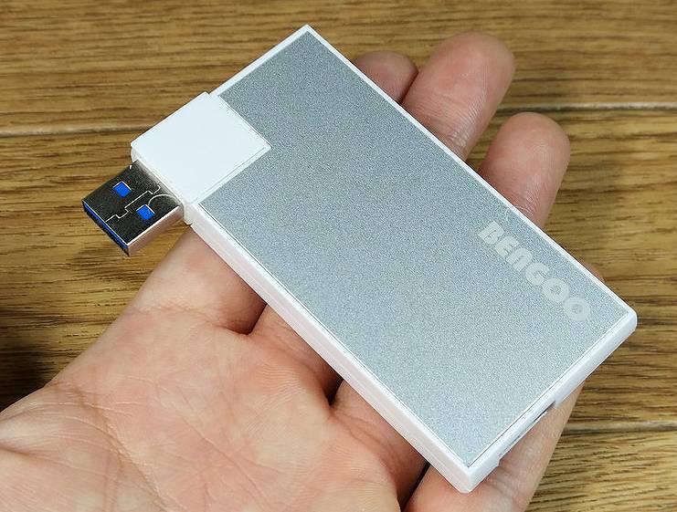 【USBハブ】カードタイプのちょっと変わった、4ポートUSB3.0ハブ(Bengoo)