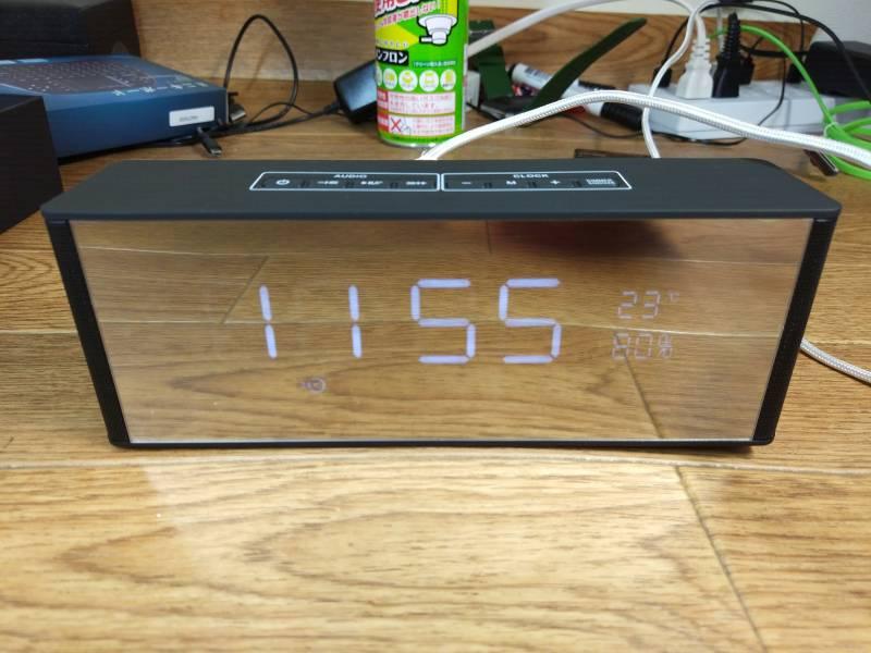 【Bluetooth目覚まし時計】音楽も聴けて時計も使える!