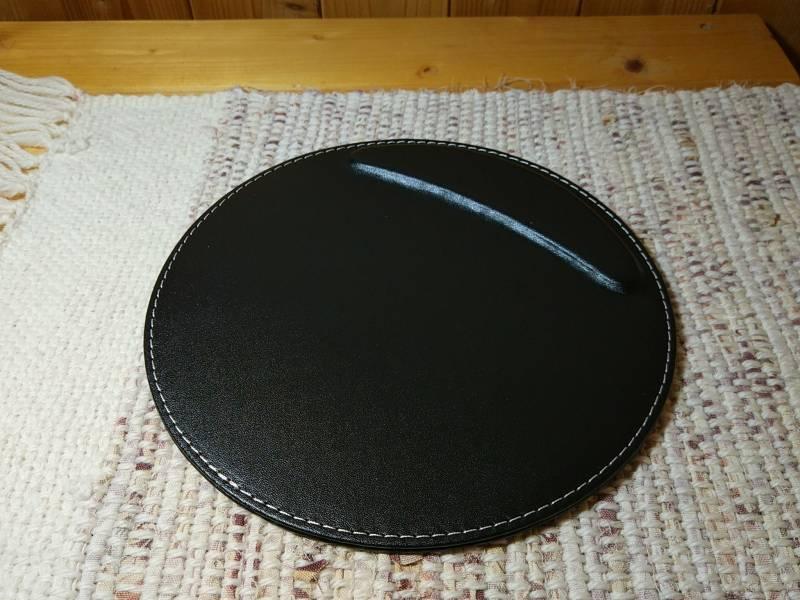 【マウスパッド】小さな肘置き付きの丸いマウスパッド