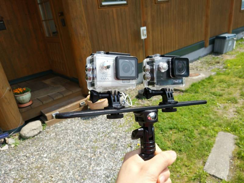 【中華GoPro・ThiEYE T5e・Elecam Explorer Elite】最強の手ぶれ補正アクションカメラはどちらだ決定戦!(手ぶれ補正検証編)