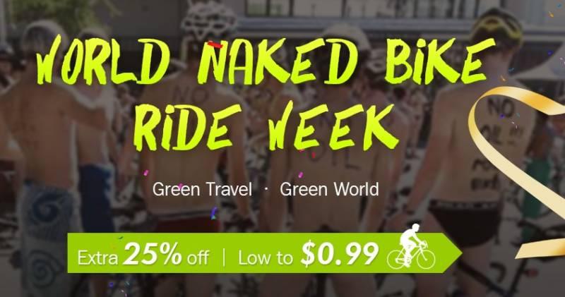 【Banggood・セール速報】自転車買うなら海外通販!World Naked Bike Rideセール開催中。