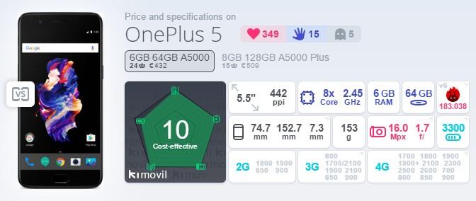 【スマートフォン・OnePlus 5】Band19対応の最強スペックのスマホがついに発売したぞ!