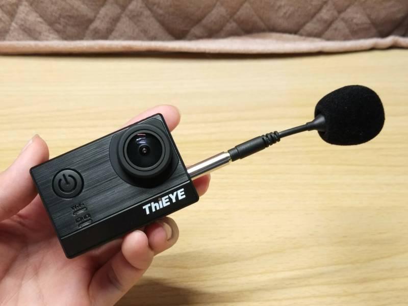 【中華GoPro・ThiEYE T5e】DJI用のミニマイクを使って見た(DJI FM-15)