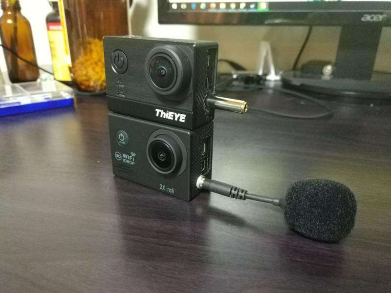 【中華GoPro・改造】激安アクションカメラに外部マイク端子(3.5mmジャック)を取り付ける方法と手順