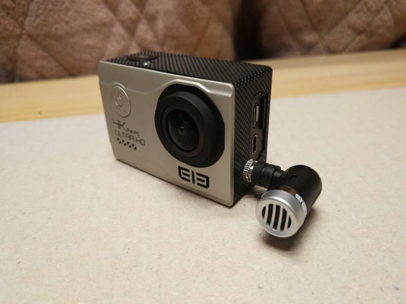 【中華GoPro・外付けマイク取り付け改造】Elecam Explorer Eliteにも3.5mmジャックを取り付けちゃいました。