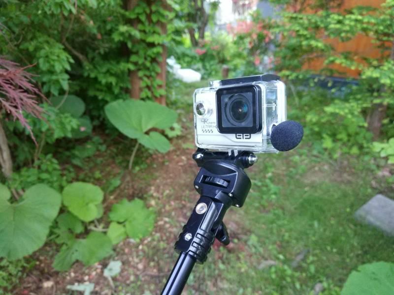 【中華GoPro・Elecam Explorer Elite】今日の外部マイク音質テスト(ME52W)