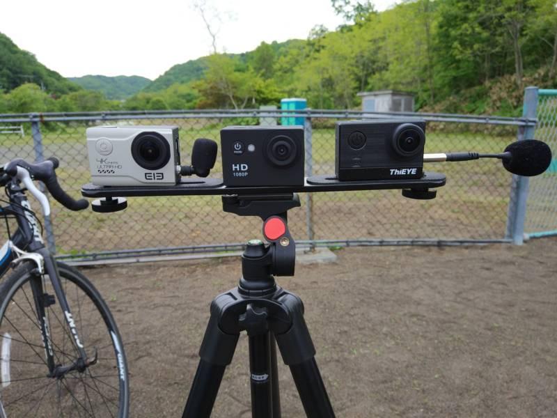 【中華GoPro・A9 HD】2000円GoPro + Elecam Elite + ThiEYE T5eの画質と画角の検証