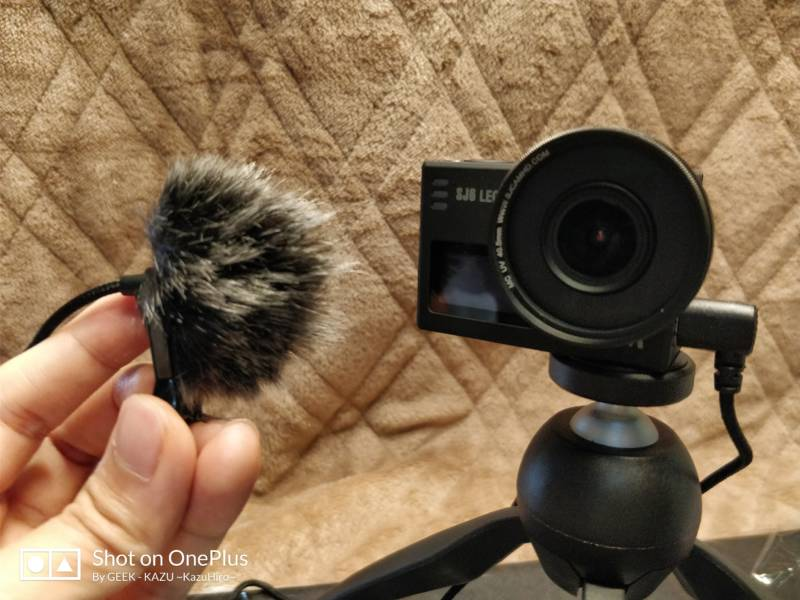 【アクションカメラ・SJCAM SJ6 LEGEND】フワッフワの風防を取り付けて、風切音を失くす方法