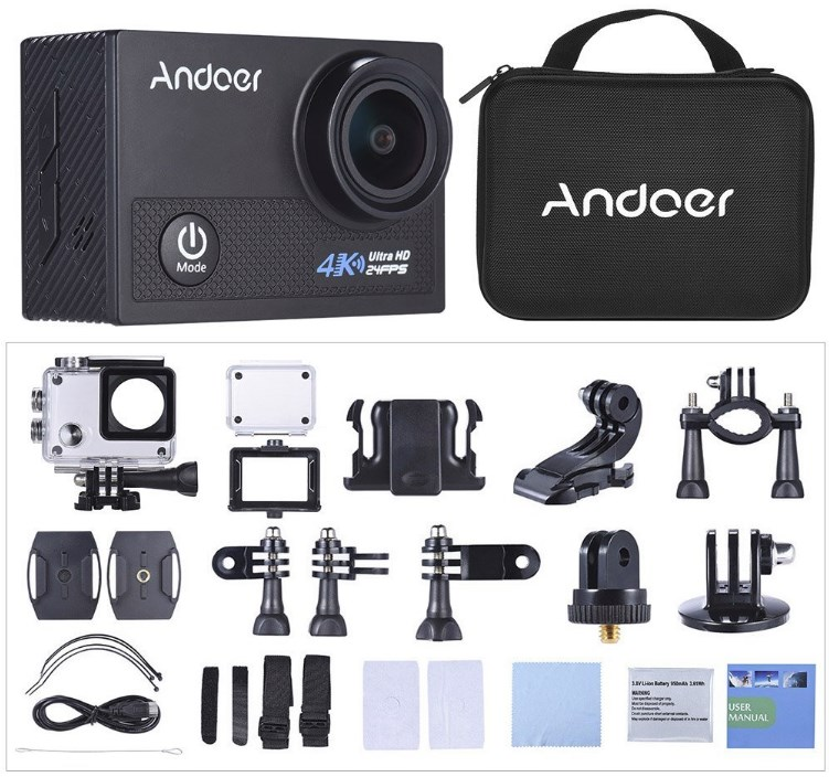 【Andoer AN5000・アクションカメラ】7000円で一式揃う!激安中華GoProがあまりにも安すぎる!(開封編)