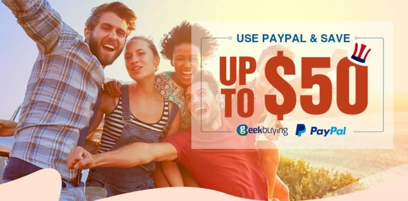 【geekbuying・セール速報】PayPal支払いにすると、割引になるセールが開催中