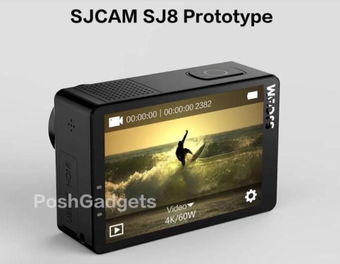 【SJCAM SJ8】4K 60fpsが撮影できる新機種!?のリーク情報
