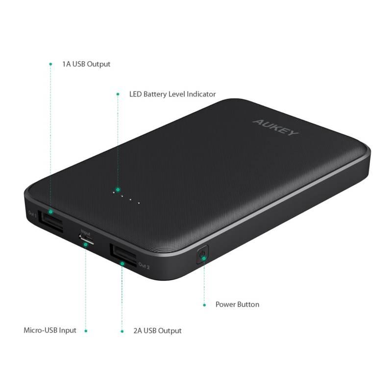 AUKEY モバイルバッテリー10000mAhがお安いクーポン配布中1899円→1519円【Amazonクーポン速報・PB-N50】