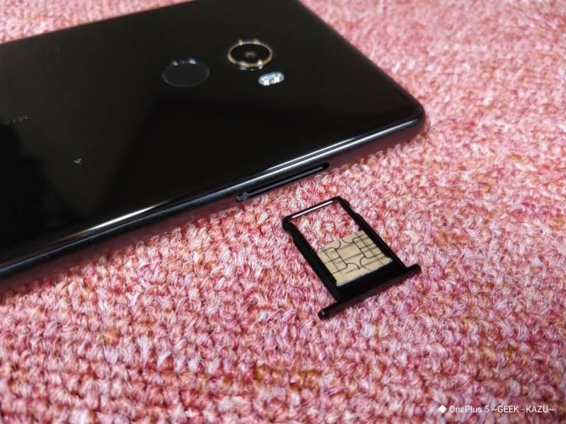【Xiaomi Mi Mix 2、スマートフォン】MVNOSIM(楽天モバイルSIM)を入れて使ってみた。