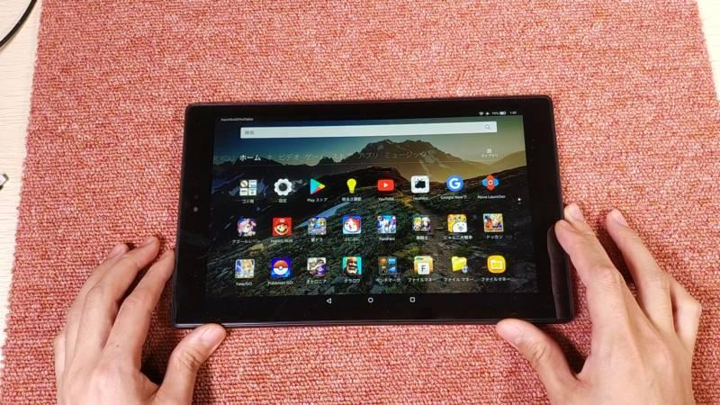 【2017年版Amazon Fire HD 10タブレット】アプリ起動、検証編(Google Play ストアアプリ)