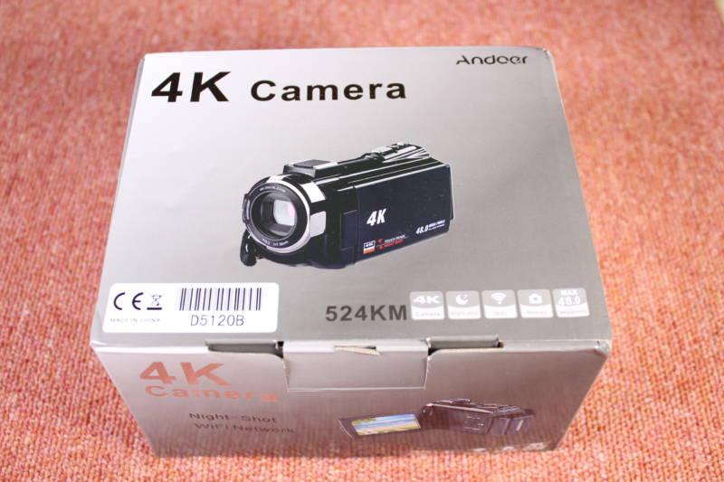 TOMTOP Andoer 4K ビデオカメラ 開封レビュー (1)