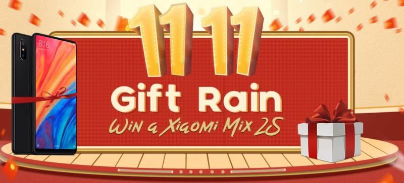 2018年11月10日 午後5時にログインすると、Xiaomi Mi Mix 2Sが当たるかも!?【Geekbuyingプレゼント企画】